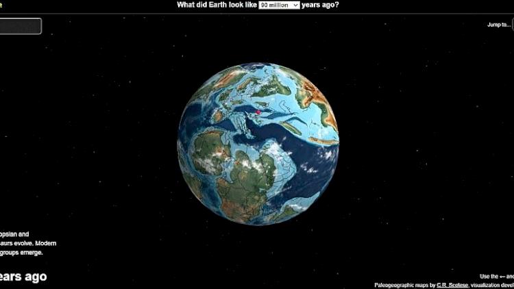 İnteraktif harita: Yaşadığınız yer 750 milyon yıl önce neredeydi?