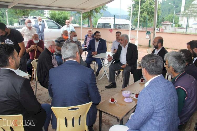 HÜDA PAR Genel Başkanı Yapıcıoğlu, sel felaketinin yaşandığı Rize'de